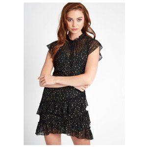 Lost + Wander Estella Mini Star Black Dress